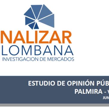 ESTUDIO DE OPINIÓN PÚBLICA PALMIRA – VALLE JUNIO 2019